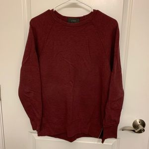 Jcrew burgundy fleece long sleeve